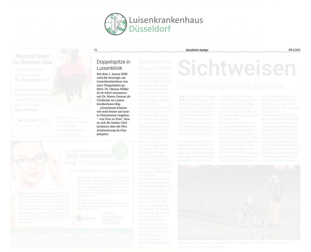Pressemeldung über das Luisenkrankenhaus im Düsseldorfer Anzeiger