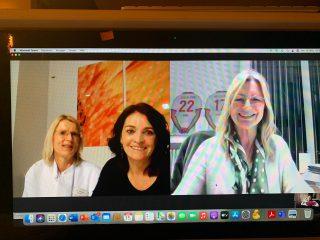 Dr. Maren Darsow und Dr. Trudi Schaper organisierten das virtuelle Event zusammen mit Fortuna Düsseldorf.