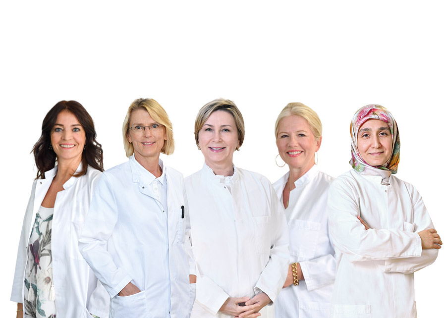 Gruppenbild Senologie Ärztinnen im Luisenkrankenhaus