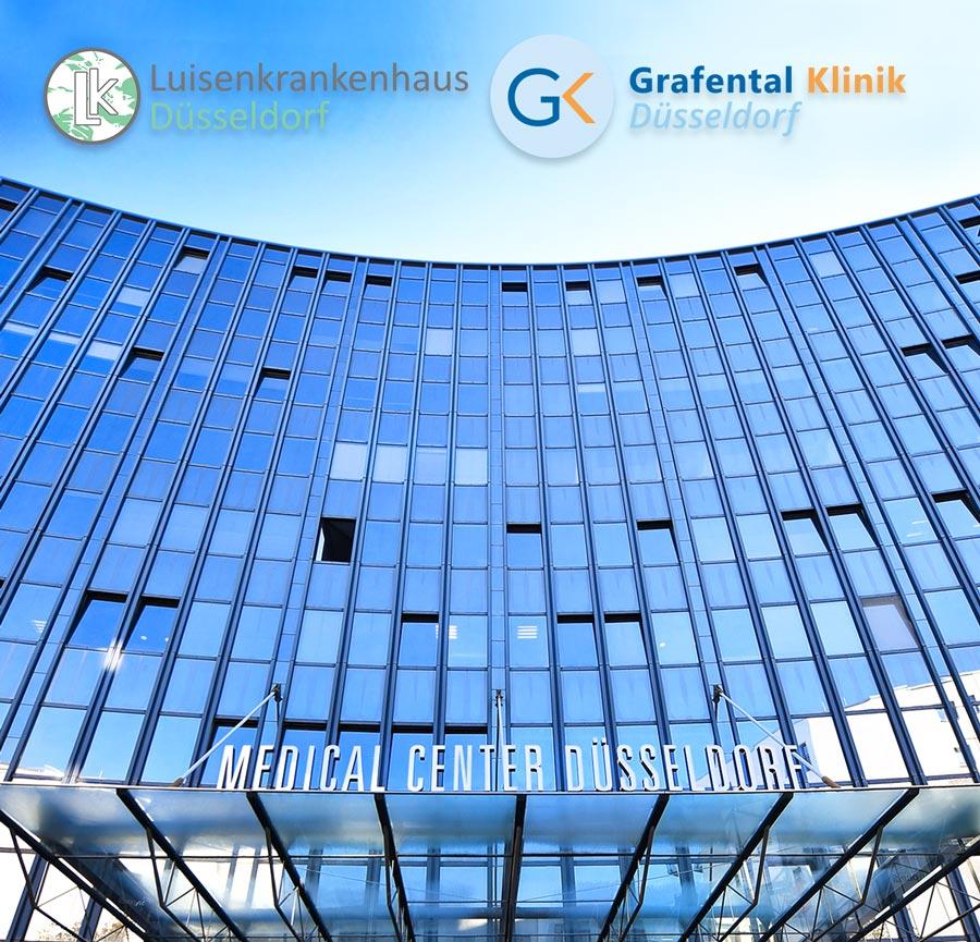 Medical Center Düsseldorf mit Luisenkrankenhaus von außen