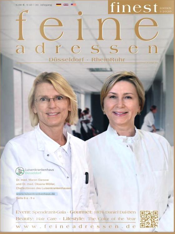 Magazin feine Adressen Titelbild mit Dr. Darsow und Dr. Möller